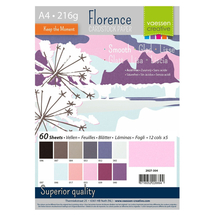 Florence Cardstock - A4 - Smooth - Set Winter (60 vel)
