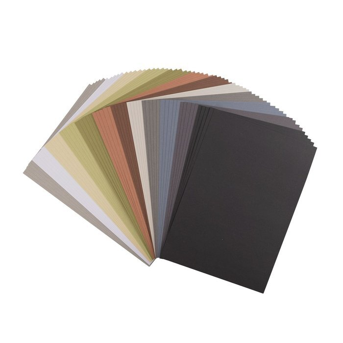 Florence Cardstock - A4 - Smooth - Set Earth tones (60 vel)