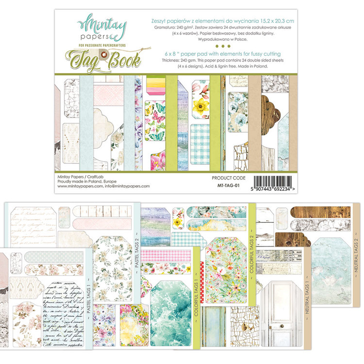 Paperpad Mintay - Tag Book - 15.2 x 20.3 cm - MT-TAG-01