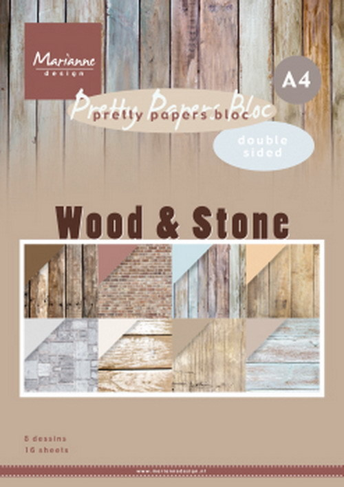 Marianne Design - Paperpad A4 - Wood Stone