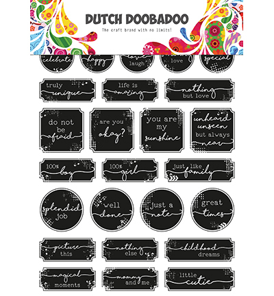 Dutch Doobadoo - Dutch Sticker Art - Quotes