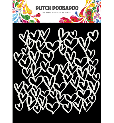 Dutch Doobadoo - Dutch Mask Art - Mask Art hearts