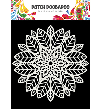 Dutch Doobadoo - Dutch Mask Art - Mask Art Mandala leaves