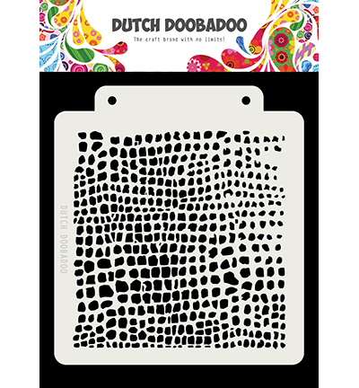 Dutch Doobadoo - Dutch Mask Art - Dutch Mask Crocodile