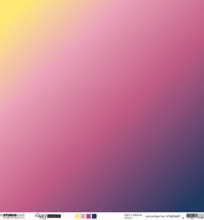 Studio Light - Happy Moments- Scrappapier 30,5 x 30,5 cm - SCRAPHM87