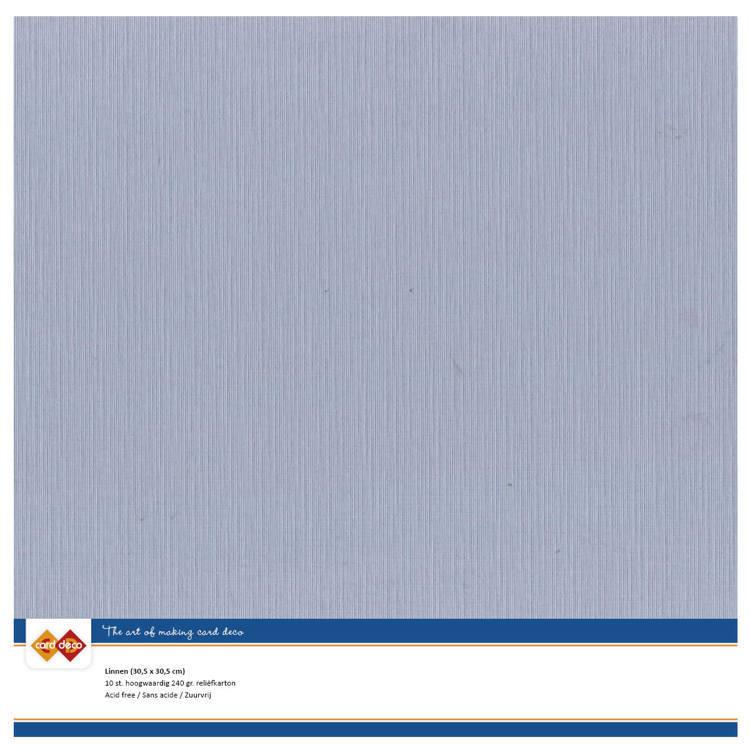 Linnenkarton CardDeco - 30,5 x 30,5 - Oudblauw