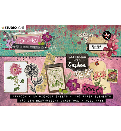 Studio Light - Just Lou Botanical  - A6 Stansblok (A6STANSBLOKJL02)