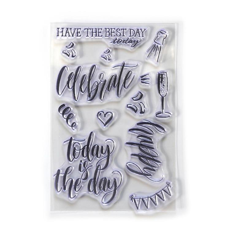 Elizabeth Craft Design - Clearstamp - Celebrate