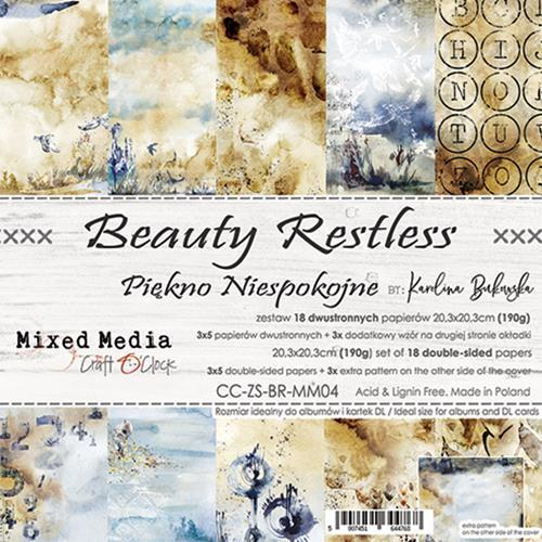 Craft O' Clock - Mixed Media Collection - Beauty Restless - Paperpad 20,5 x 20,5 cm