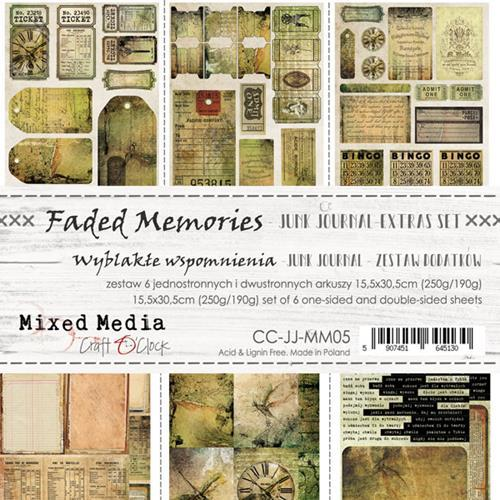 Craft O' Clock - Mixed Media Collection - Faded Memories - Junk Journal Kit