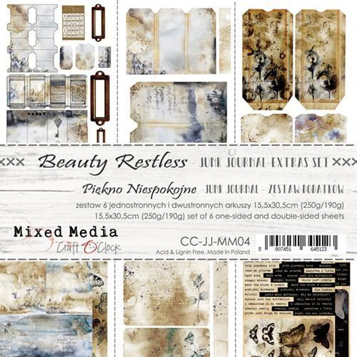Craft O' Clock - Mixed Media Collection - Beauty Restless - Junk Journal Kit
