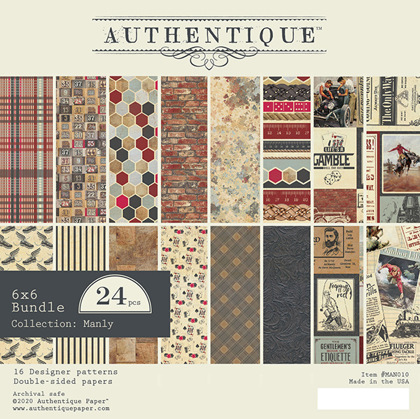 Authentique - Paperpad Manly - 15,2 x 15,2 cm