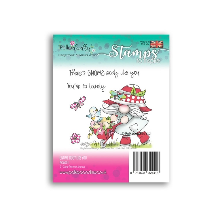 Clearstamp Polka Doodles - Spring - There's Gnome Body Like You