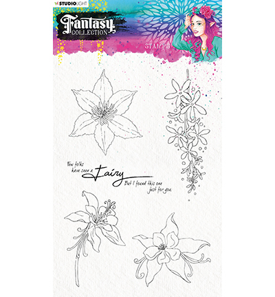Studio Light - Fantasy Collection 3.0 - Clearstamp A5 - STAMPFC476