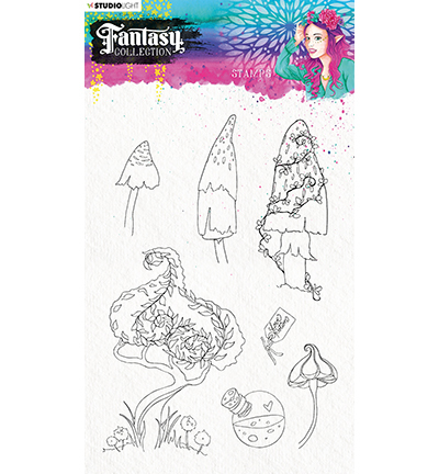 Studio Light - Fantasy Collection 3.0 - Clearstamp A5 - STAMPFC477