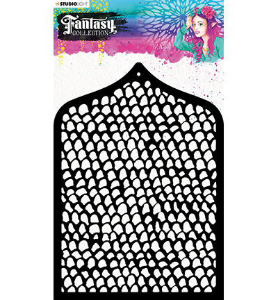 Studio Light - Fantasy Collection 3.0 - Mask Stencil A6 - MASKFC45