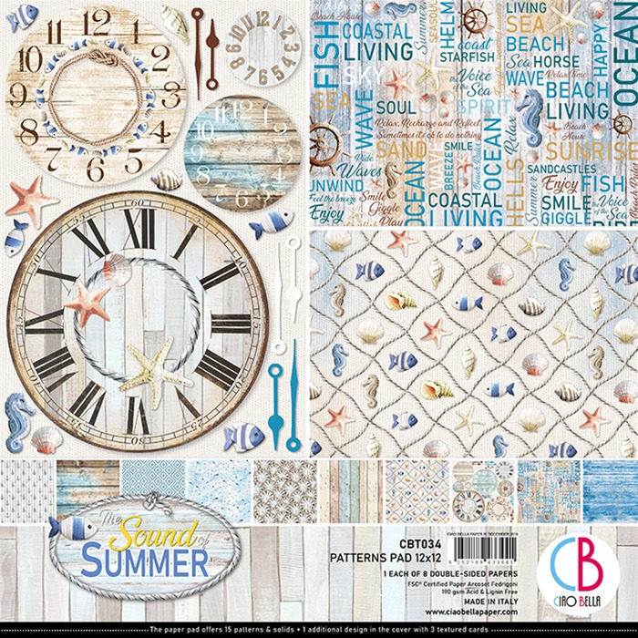 Ciao Bella - Paperpad 30,5 x 30,5 cm - Patterns Pad - Soud of Summer  -34