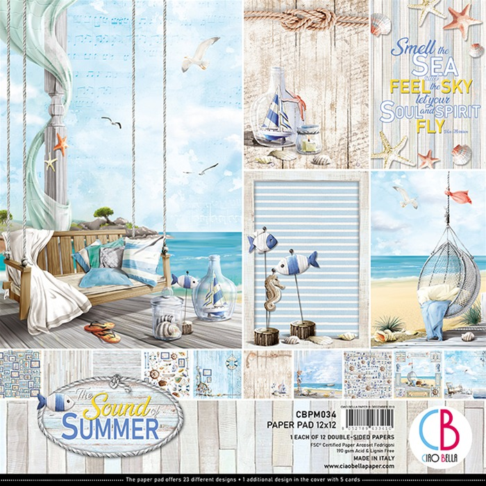 Ciao Bella - Paperpad 30,5 x 30,5 cm - Design pad - Sound of Summer