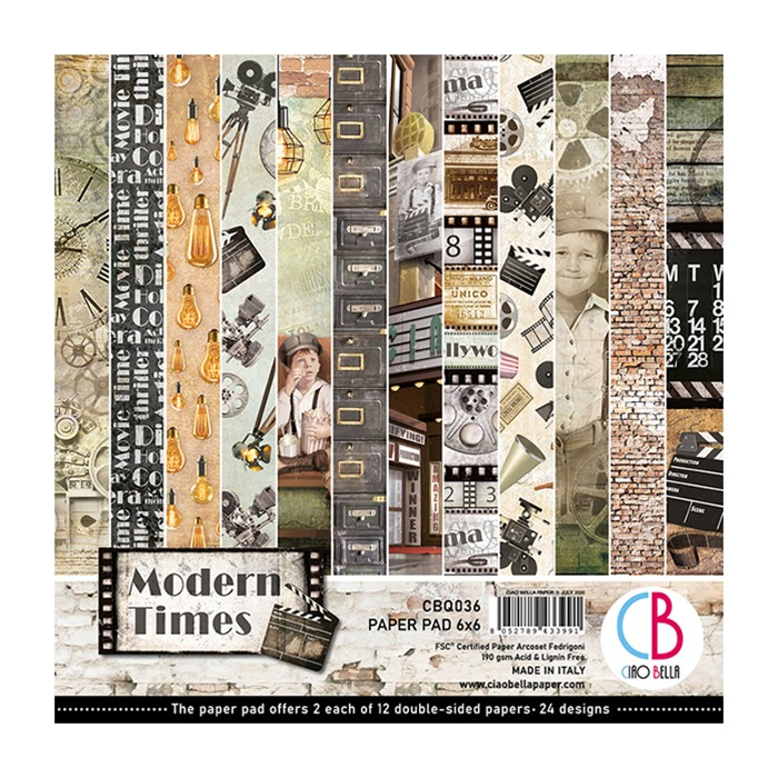 Ciao Bella - Paperpad 15,2 x 15,2 cm  Design pad - Modern Times