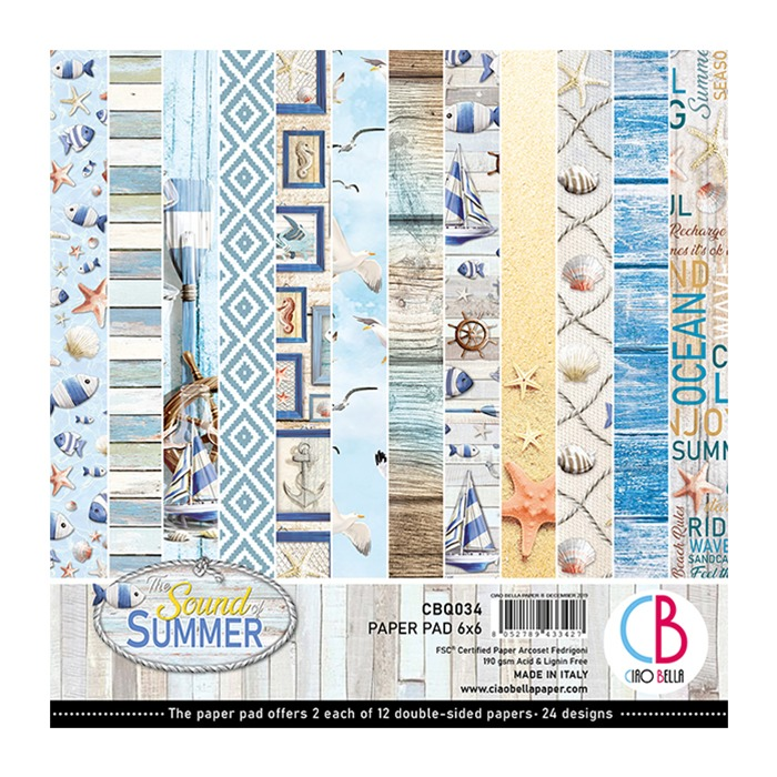 Ciao Bella - Paperpad 15, 2 x 15,2 cm - Design pad - Sound of Summer