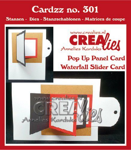 Crealies - Cardzz - Pop Up Panel Card / Waterfall Slider Card