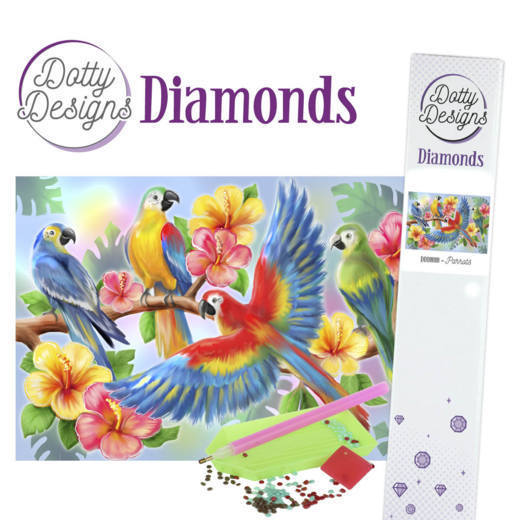 Dotty Designs Diamonds - Parrot