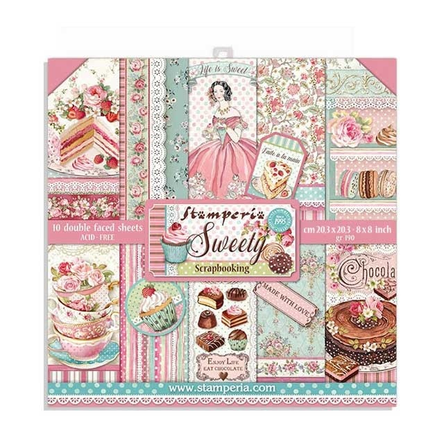 Paperpad Stamperia - 20,5 x 20,5 cm - Sweety