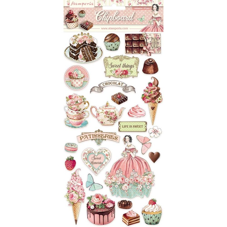 Stamperia - Chipboard 15x30cm -  Sweety