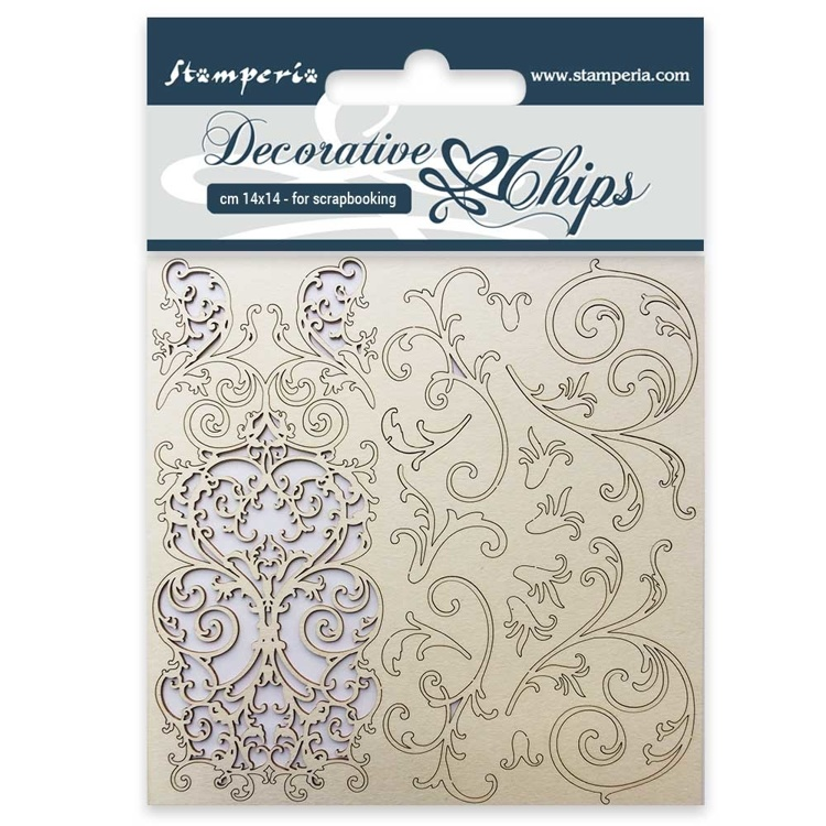 Stamperia - Decorative Chips -  Tapestry