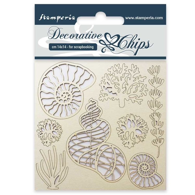 Stamperia - Decorative Chips -  Shells