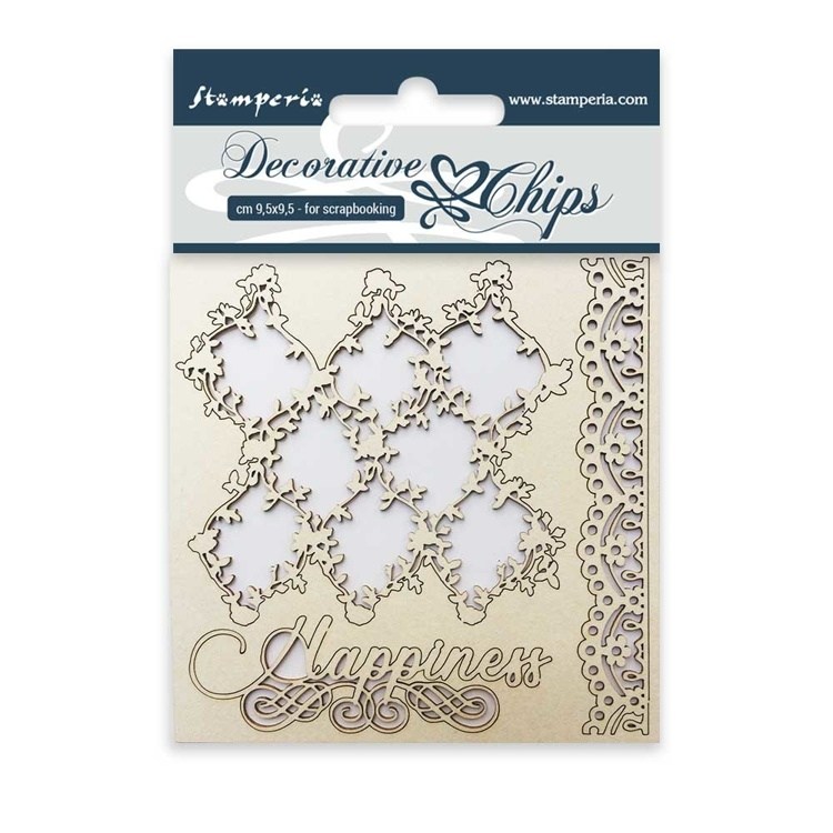 Stamperia - Decorative Chips -  Lace and Border