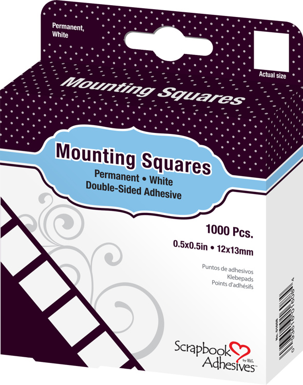 Scrapbook Adhesives - Mounting Squares White (1000pcs)