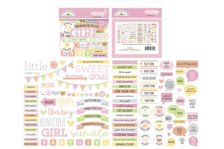 Doodlebug - Special Delivery - Baby Boy - Chit Chat (102 pcs)