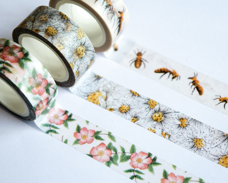 Washi Tape - Craft Consortium - At Home in the Wildflowers (3 rol)