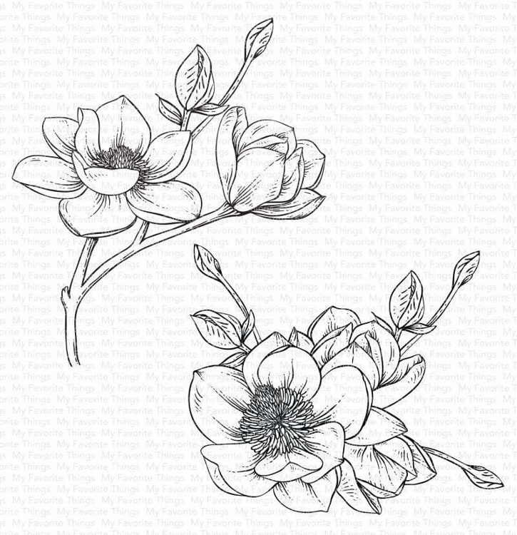 Rubber Stamps - My Favorite Things - Magnolia Blossoms