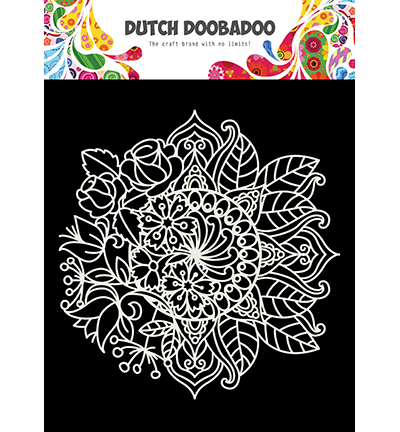 Dutch Doobadoo - Dutch Mask Art - Mandala met bloem