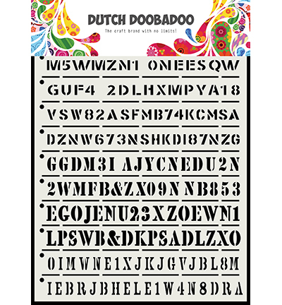 Dutch Doobadoo - Dutch Mask Art - A5 Strips