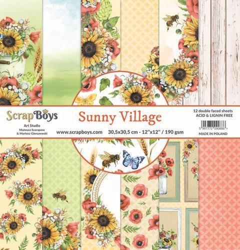 ScrapBoys - Sunny Village - Paperpad 30,5 x 30,5 cm
