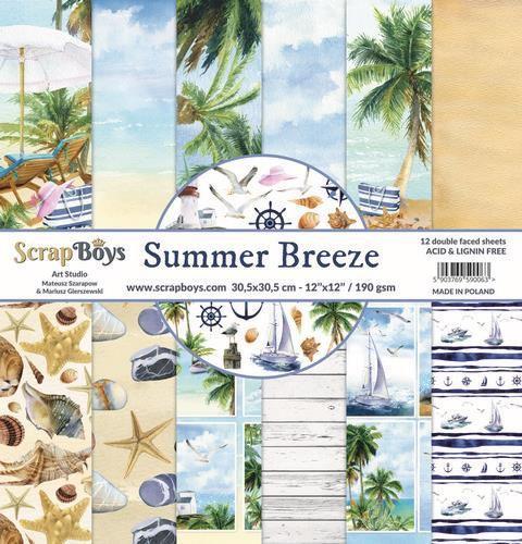 ScrapBoys - Summer Breeze - Paperpad 30,5 x 30,5 cm