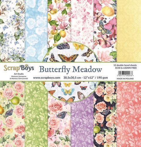 ScrapBoys - Butterfly Meadow - Paperpad 30,5 x 30,5 cm
