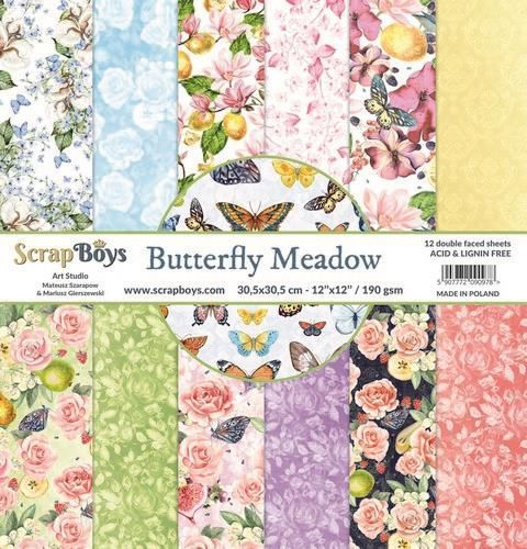 ScrapBoys - Butterfly Meadow - Paperpad 30,5 x 30,5 cm