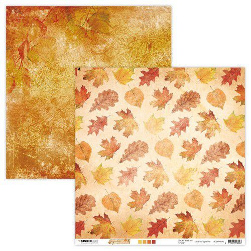 Studio Light - Wonderful Autumn - Scrappapier 30,5 x 30,5 cm - SCRAPWA90