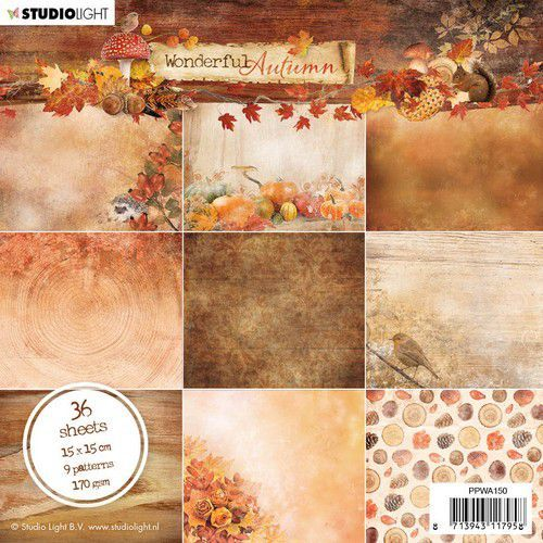 Studio Light - Wonderful Autumn - Paperpad 15 x 15 cm - PPWA150