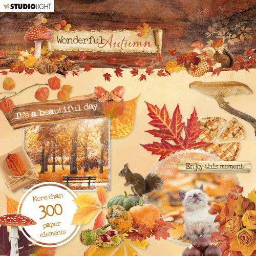 Studio Light - Wonderful Autumn- Die-Cut block 15,2 x 15,2 cm - EASYWA664
