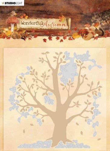 Studio Light - Wonderful Autumn - Embossing & Die-cut Folder - EMBWA05