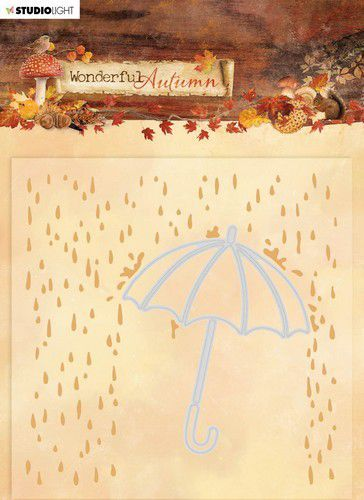 Studio Light - Wonderful Autumn - Embossing & Die-cut Folder - EMBWA06