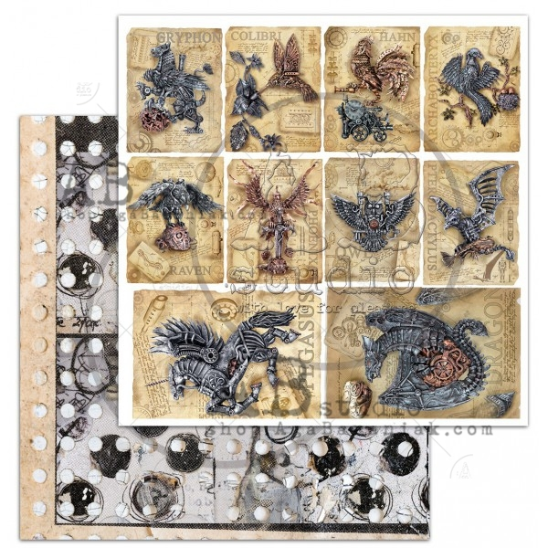 AB Studio - Elements for Cutting - Steampunk Cards