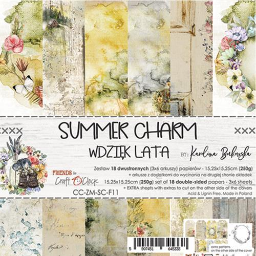 Craft O' Clock - Summer Charm - Paperpad 15,2 x 15,2 cm