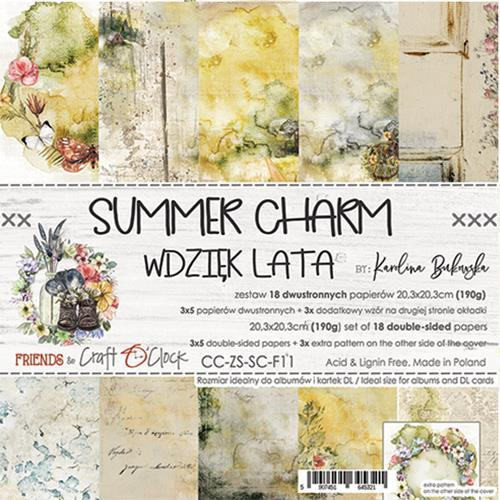Craft O' Clock - Summer Charm - Paperpad 20,5 x 20,5 cm
