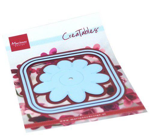 Marianne Design Creatables - Vierkante doos en bloem
